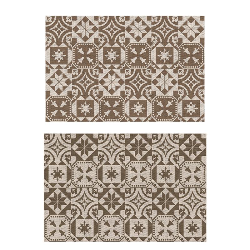 Portugál csempe mintás, téglalap alakú, kétoldalú kültéri szőnyeg