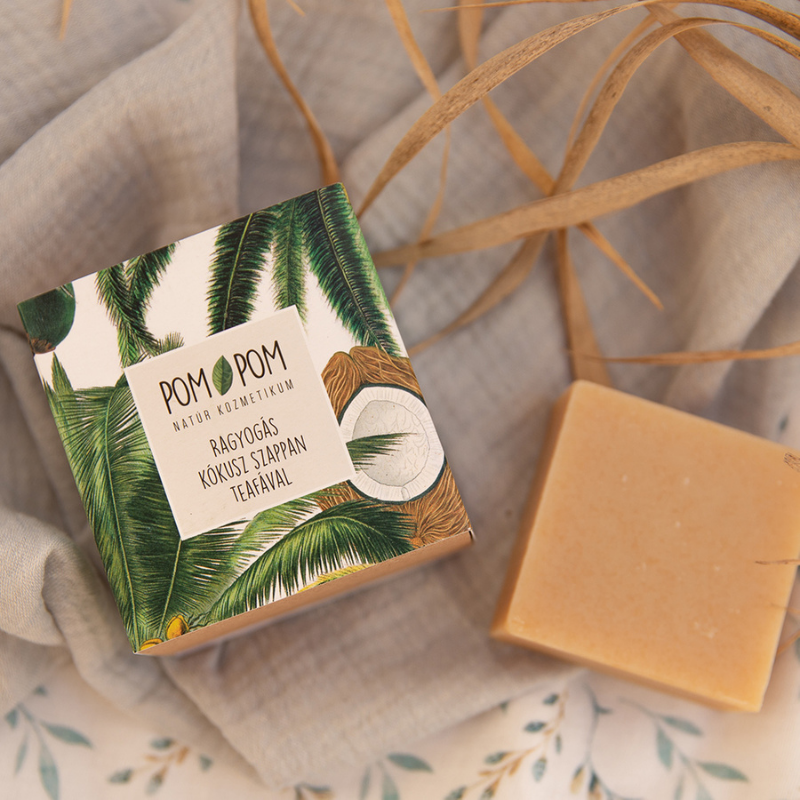 Ragyogás kókusz szappan teafával, Pom-Pom