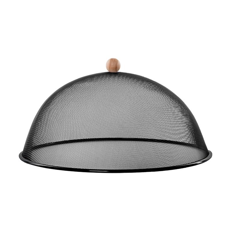 Ételtakaró búra, fekete, L, 43 cm