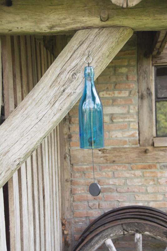 Színes üveges szélcsengő