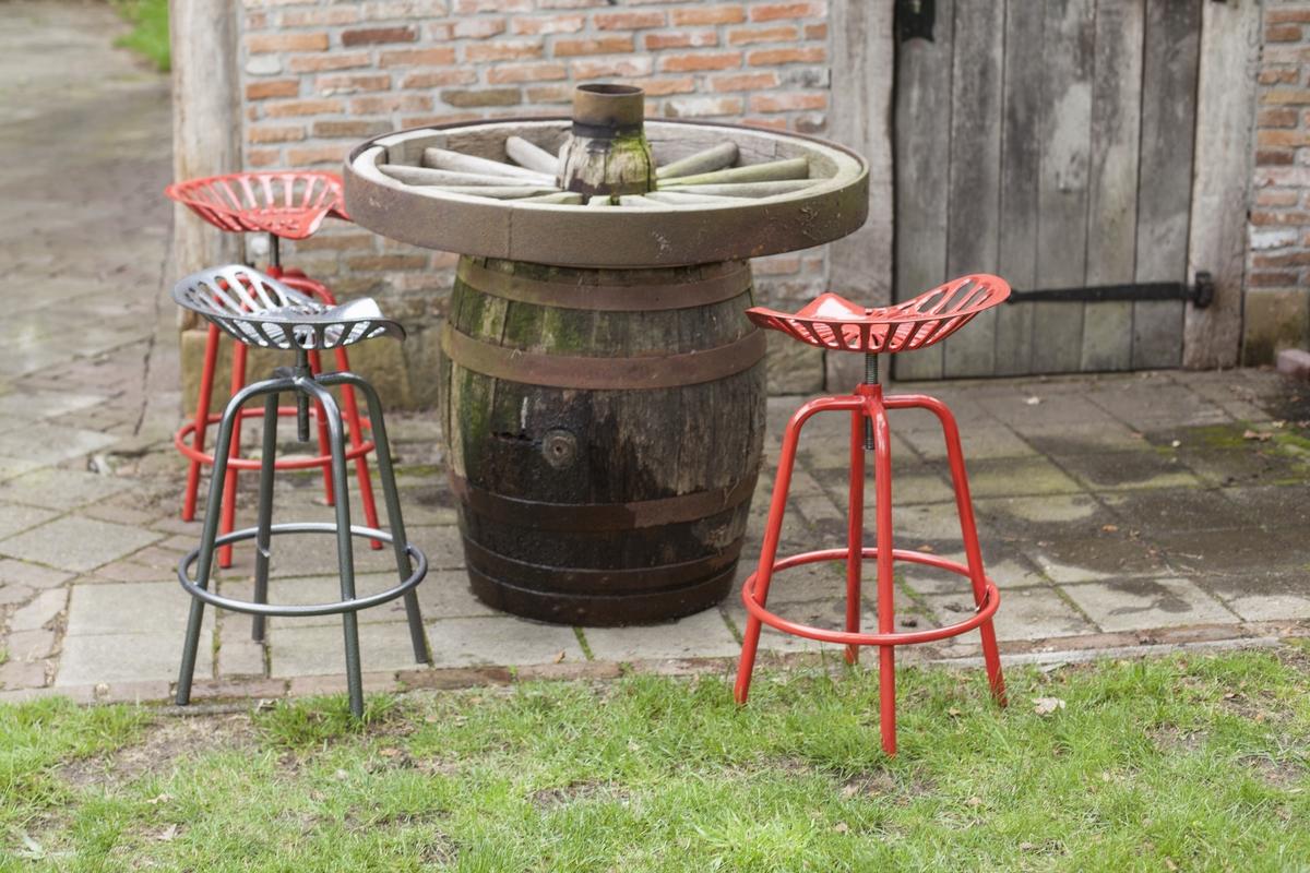 Traktor szék, piros