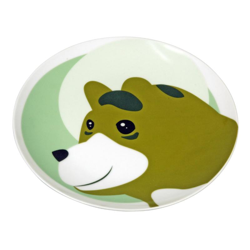 Tányér medve mintával