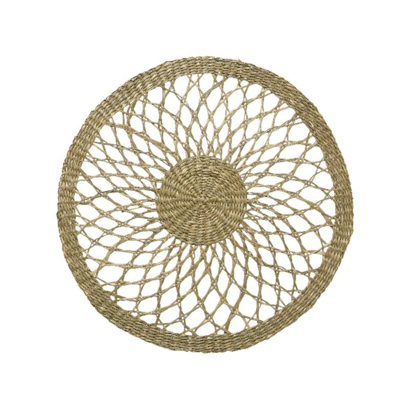 Tányéralátét tengeri fűből, virág formájú, 40cm