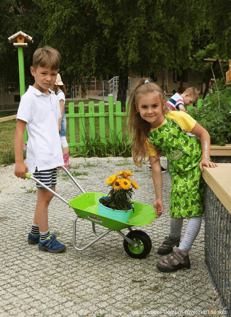 Terep mintás gyerek kertész kötény