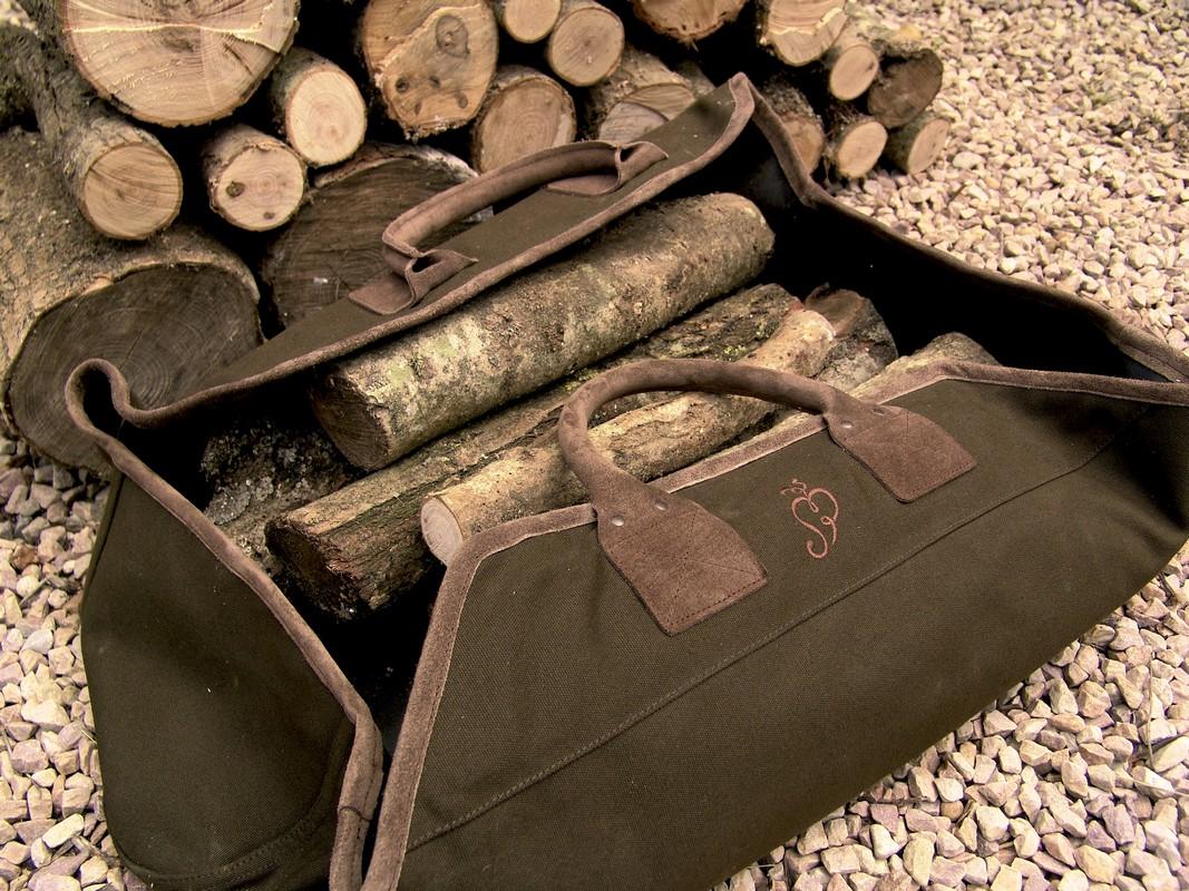 Tüzifa hordó táska