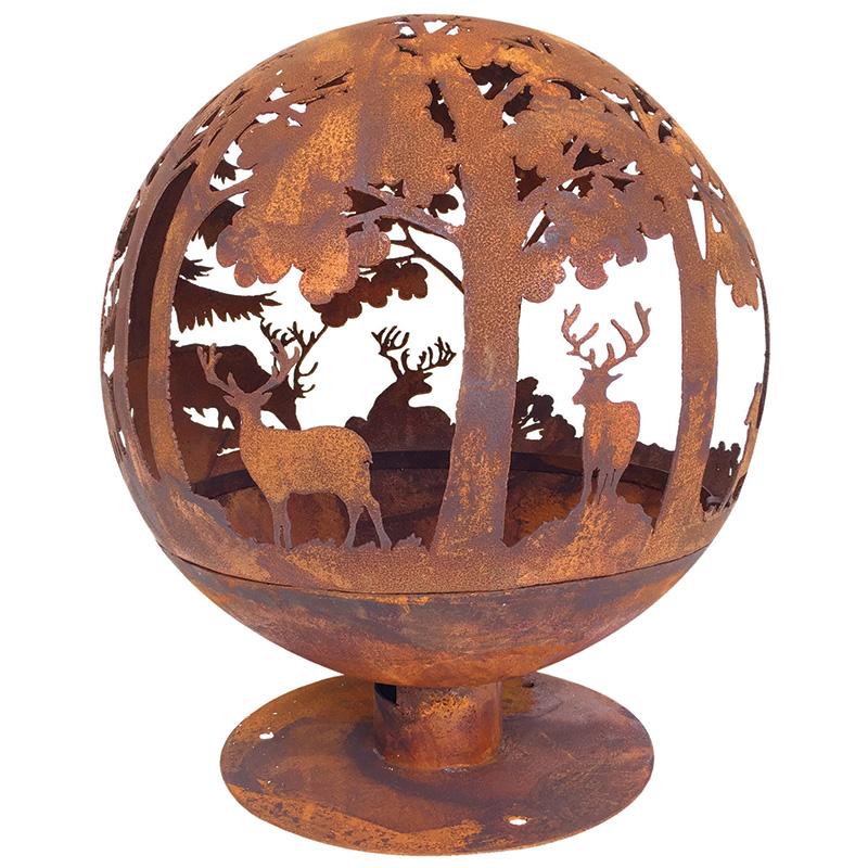 Tűzrakó gömb, erdei mintával