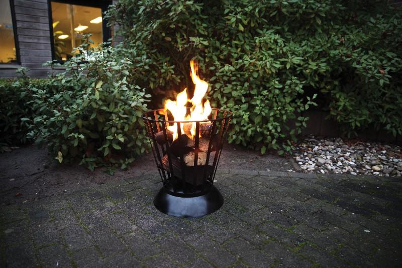 Tűzrakó tál és kosár