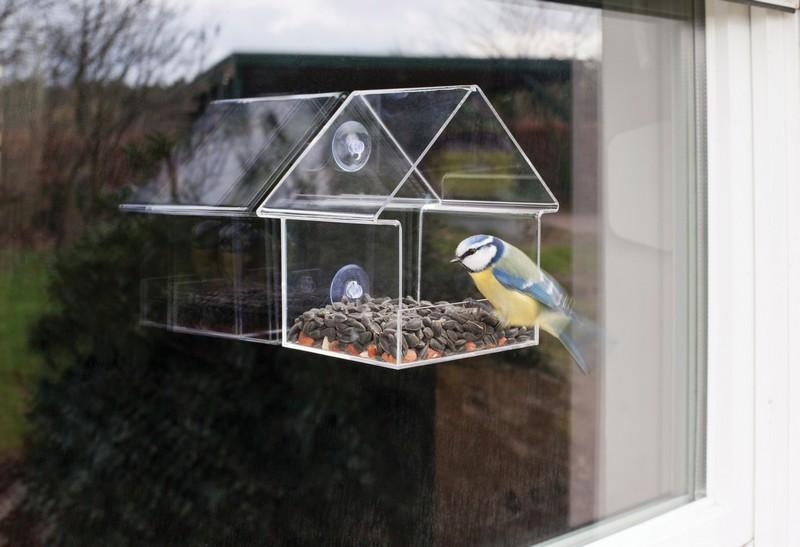 Üvegre rögzíthető madáretető