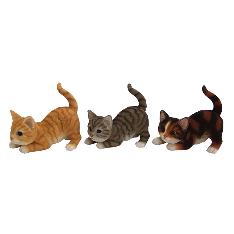 Játszó cica szobor, 3 féle