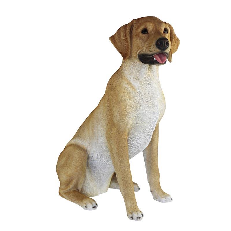 Ülő labrador retriever kutya szobor, XXL