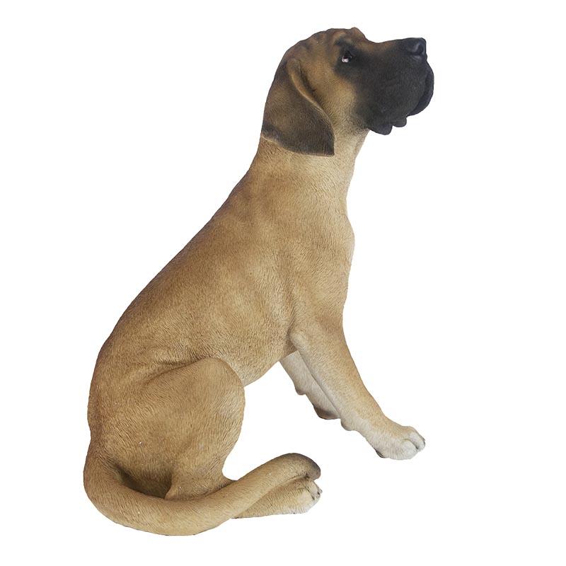 Ülő német dog kutya szobor, XL