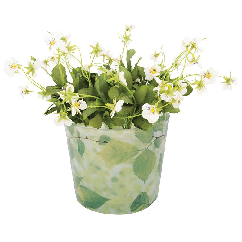 Virágcserép üveg