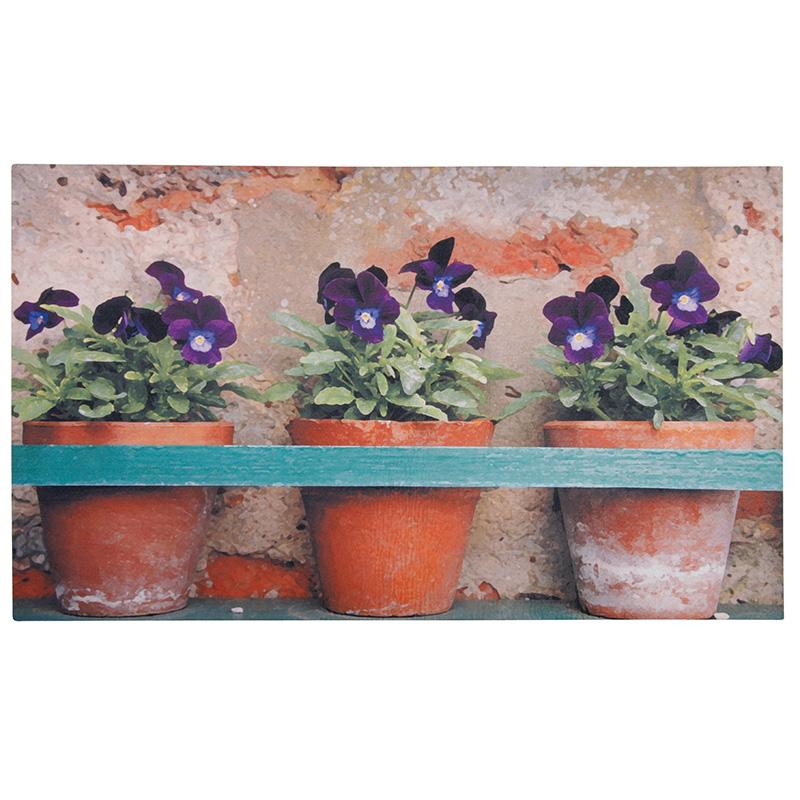Virágos lábtörlő - cipős szőnyeg 75 x 45 cm