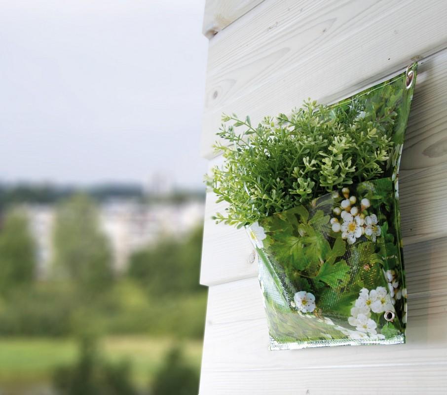 Virágtartó táska, falra rögzíthető