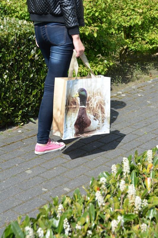 Vadkacsás bevásároló táska kétféle mintával