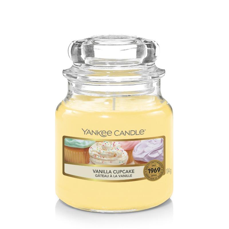 Vanilia cupcake, Yankee Candle illatgyertya, kicsi üveg (vaníliás sütemény)