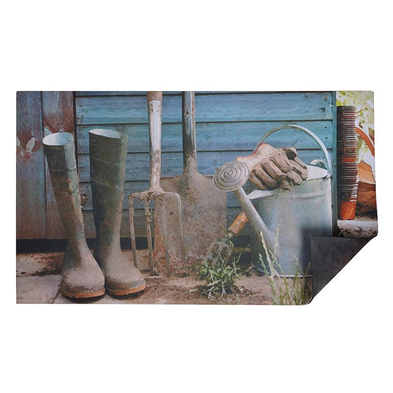 Vidékies hangulatú lábtörlő - cipős szőnyeg 75 X 45 CM