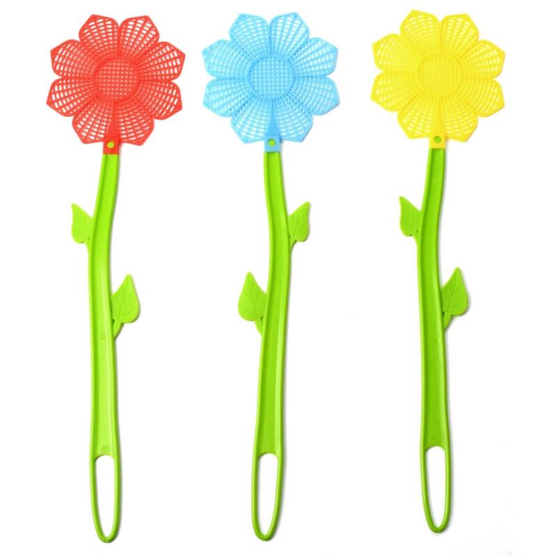 Virág alakú légycsapó, 3 féle színben