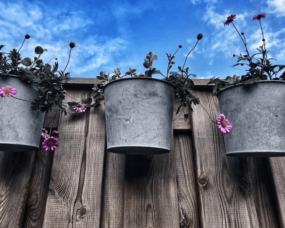 Virágcserép kaspó akasztófüllel