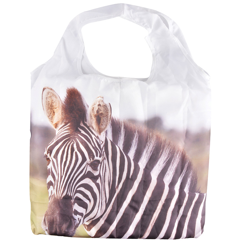 Zebrás bevásárló táska