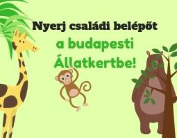 Nyerj családi belépőt a Budapesti Állatkertbe!